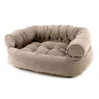 Bowsers Microvelvet Double Donut Dog Bed Sofa Putty ...