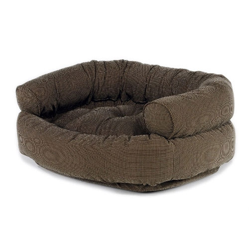 microvelvet double donut dog bed sofa houndstooth p l