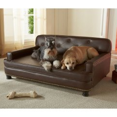 Leather Or Fabric Sofa For Dogs Pottery Barn Slipcover Encantado Espresso Dog Bed | Luxury Beds At ...