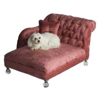 Hepburn Dog Bed Pink Crystalline | Luxury Dog Boutique at ...