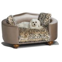 Hollywood Leopard Dog Bed | Luxury Dog Boutique at ...