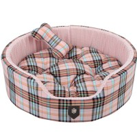 Pink Classic Preppy Dog Bed | Cute Beds for Small Dogs at ...