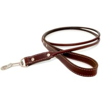 Classic Rolled Leather Dog Leash