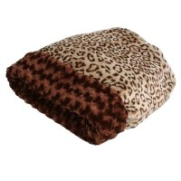 Susan Lanci Cuddle Cup Dog Bed in Savannah Leopard at