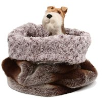 Susan Lanci Cuddle Cup Dog Bed in Platinum Chinchilla