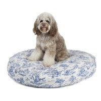 Harry Barker Toile Canvas Round Dog Bed
