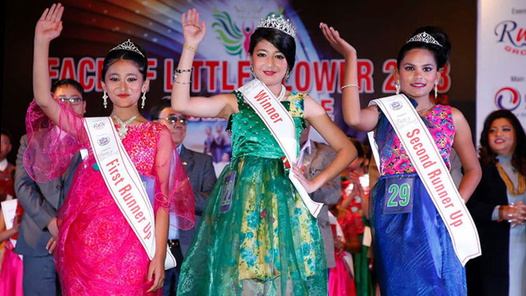 Jenisha crowned as Face of Little Flower Public School