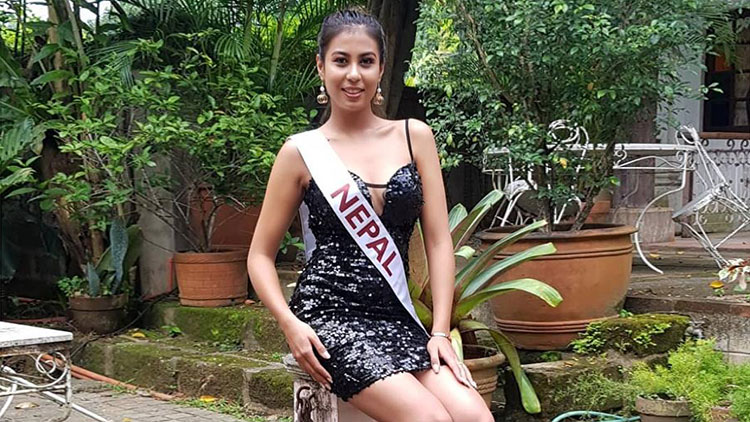 Aastha competing at Miss Tourism International 2018