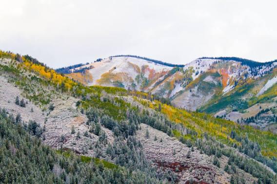 Snowy mountains. Sylvan Lake SP, Eagle CO.