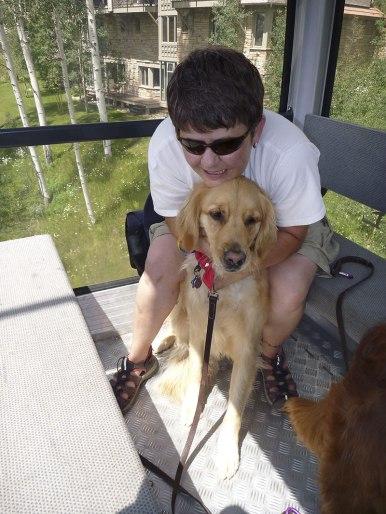 Riding on the gondola, Telluride, CO.