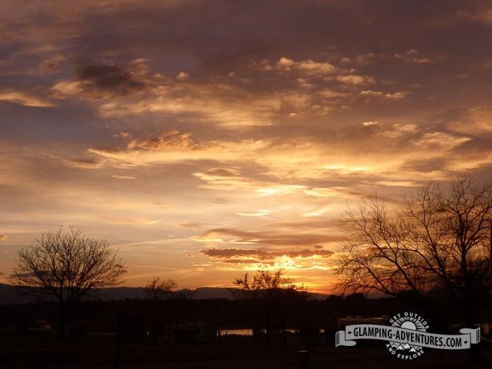 Watching the sunset at camp. Lake Pueblo SP, Pueblo, CO.