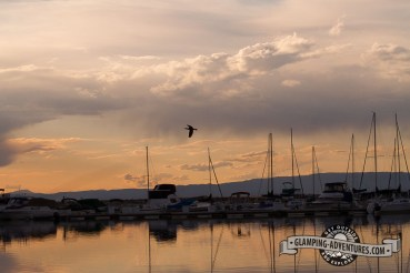 Watching the sunset at the dock. Lake Pueblo SP, Pueblo, CO.