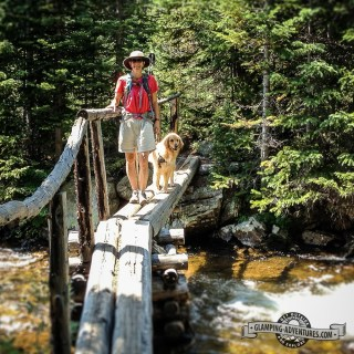Great bridge. Indian Peaks Wilderness.