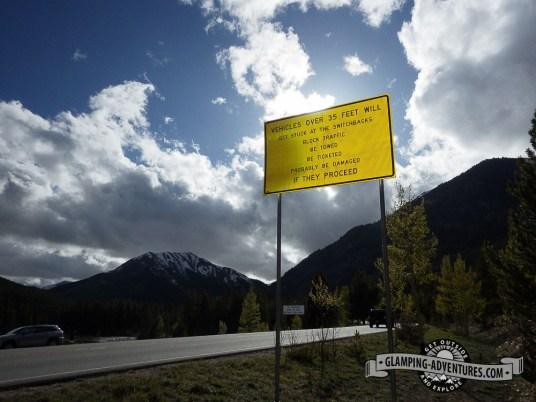 Funning warning. Independence Pass