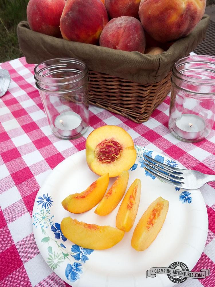 Juicy Palisade Peaches. We devoured them!