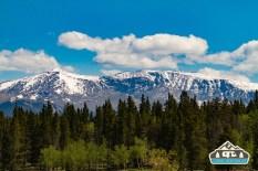 View of the mountains. Kenosha Pass, CO.
