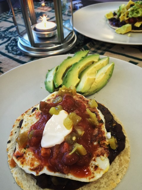 Finished Huevos Rancheros.