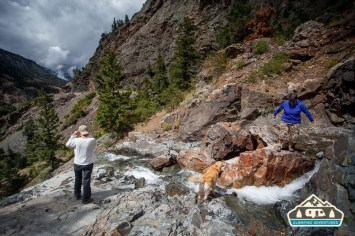 Exploring along the Million Dollar Highway.