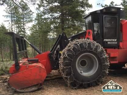 Tree cutting machine. Westcreek Rd., CO.