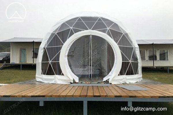 safari decorations for living room tv unit designs in geodesic dome hotel campsite forest resort