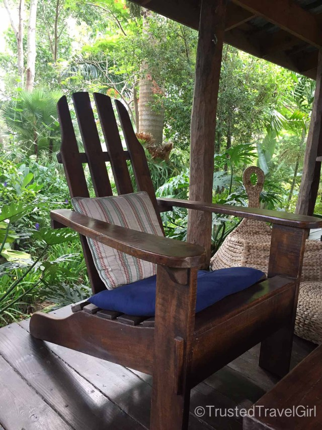 glamping deck chair by trusted travel girl