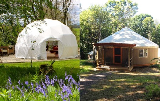 Glamping Blog - Cosy Under Canvas left, Savage River Lodge right