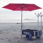 Ultimate Beach Cart Xl Large Balloon Wheels Built In Umbrella Mounts