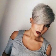 Immagini tagli capelli corti grigi