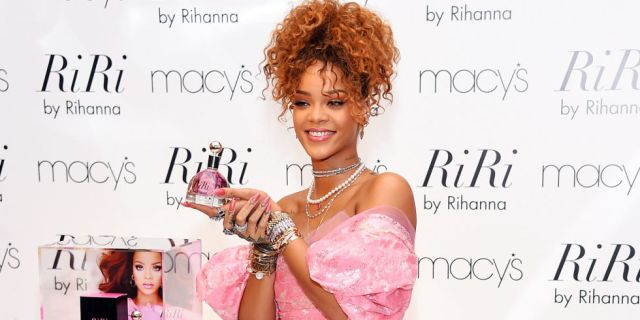 RiRi at the launch of her perfume