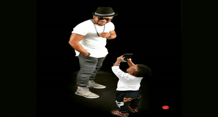 Photo: Actor Walter Anga And His Son In Striking Pose