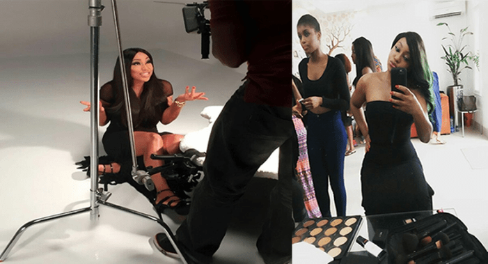 Rita Dominic's BTS Photos For Zaron Cosmetics 2016 Campaign