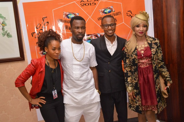 Beauty Aghedo( Project Strategist), Rugged Man(Awardee), Ebuka Peters(Project Coordinator) and D'Bling( Awardee)