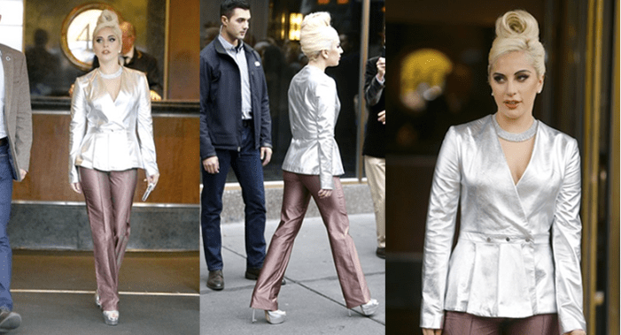 Lady Gaga Attends Rehearsal In Futuristic Look