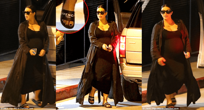 Kim Kardashian Wears $295 Givenchy Shower Shoes for Double Date with Kris Jenner