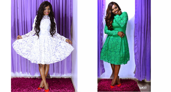 Annie Idibia Models Abbyke Domina's 2016 Luxe Lace Collection