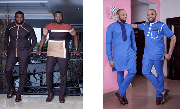 Actors Kalu Ikeagwu And Emmanuel Ikubese Stun In Vanskere's Latest LookBook