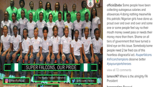 """""""Some People Have Been Collecting Outrageous Salaries And Allowances For Doing Nothing"""" Tuface Reacts to Super Falcons Unpaid Allownances"""