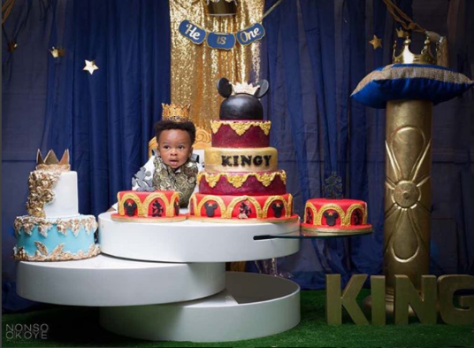 Tonto Dikeh and son, Andre at one
