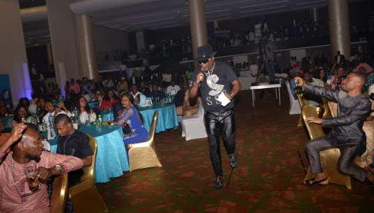 Sir Shina Peters performing at NBL event