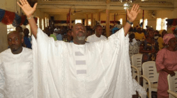 Photos: Dino Melaye And Family In Church For Thanksgiving After Failed Assassination Attempt