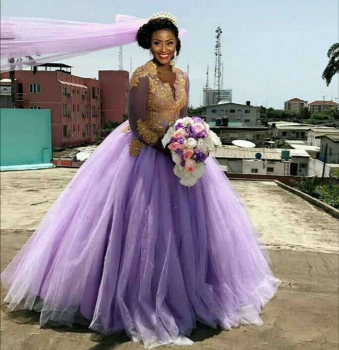Fast Rising Actress Scarlet Shotade Weds In Purple Dress