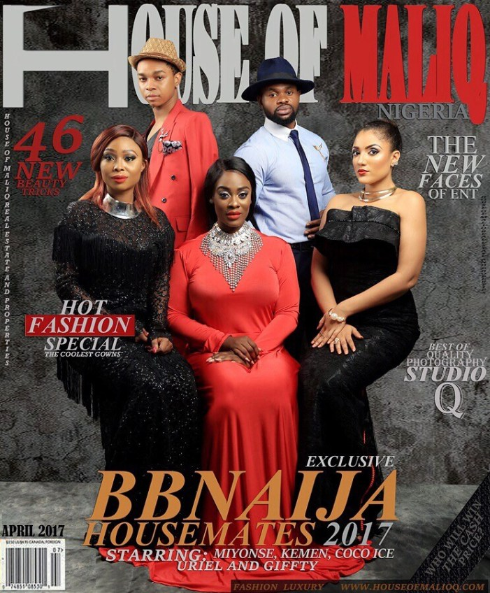 Evicted BBNaija Housemates Miyonse, Kemen, Cocoice, Uriel And Gifty Look Dashing On House Of Maliq Magazine April Cover