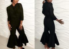 Tiwa Savage Steps Out In All Black Outfit