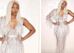 Breathtaking! This Tiwa Savage Hand beaded Fringe Dress Took Over Two Months To Make