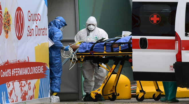 Italy New Coronavirus Infections