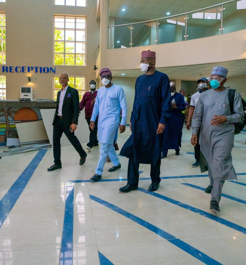 Presidential Task Force on #COVID19 visits Sanwo-Olu
