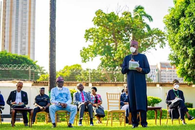 Presidential Task Force on #COVID19 visits Sanwo-Olu
