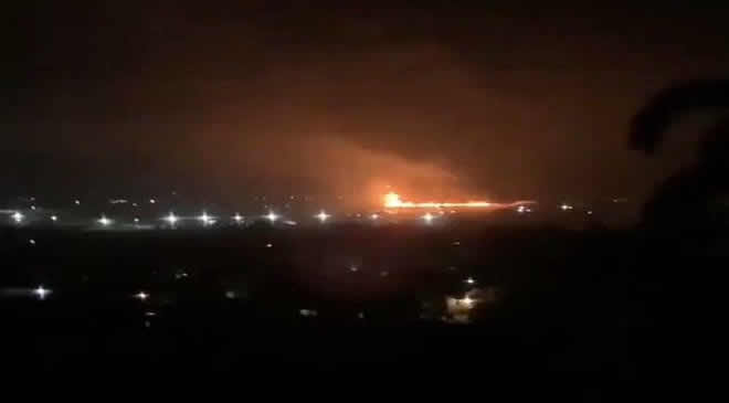 Tanker Explosion On Kara Bridge