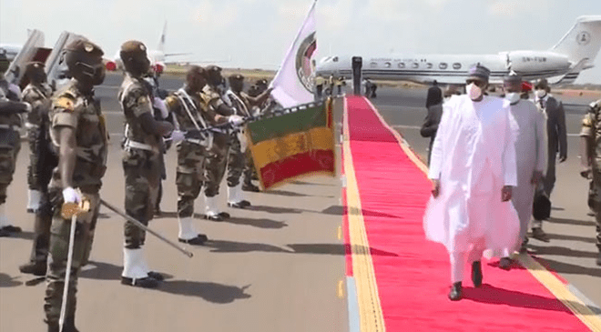 Buhari Arrives In Mali