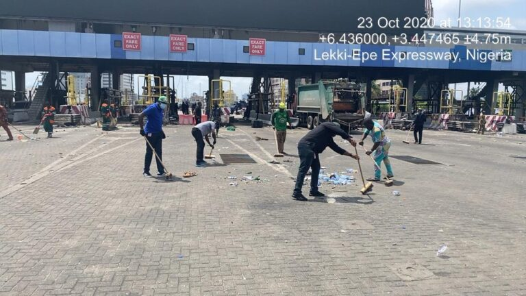 LAWMA Commences Lagos Cleanup After #EndSARS Protests